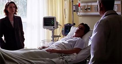 病室に横たわるウィル