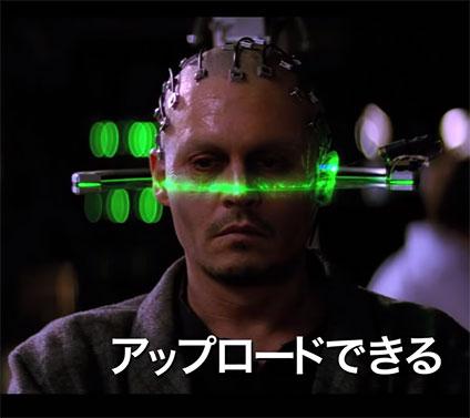 人間の脳をコンピュータにアップロードしている所
