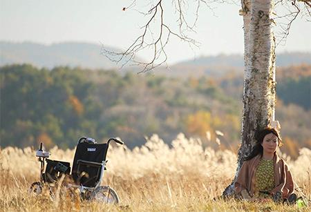 レオナと車椅子