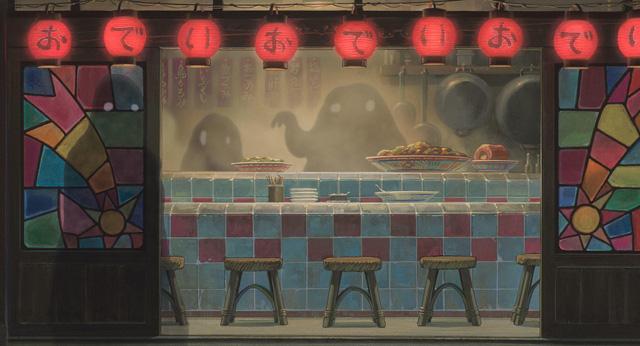 商店街の薄い影