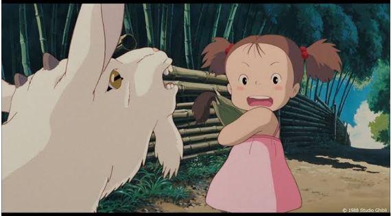 メイがヤギに『ダメだよ!これお母さんにあげるとうもころしだよ』