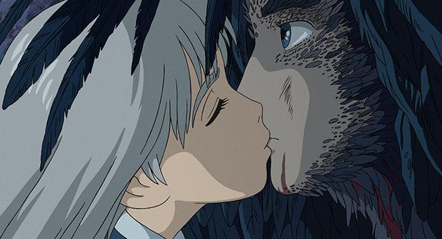 ハウルにキスするソフィー