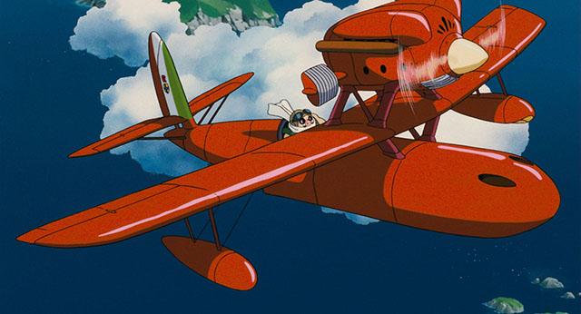 飛行艇に乗るポルコ
